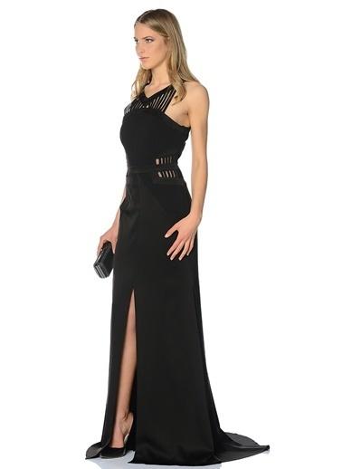 Yaka Detaylı Abiye Elbise-Fabrika